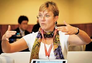 Linda Griffith conduz projeto de construção de corpo humano em um chip Foto: Marcos Alves
