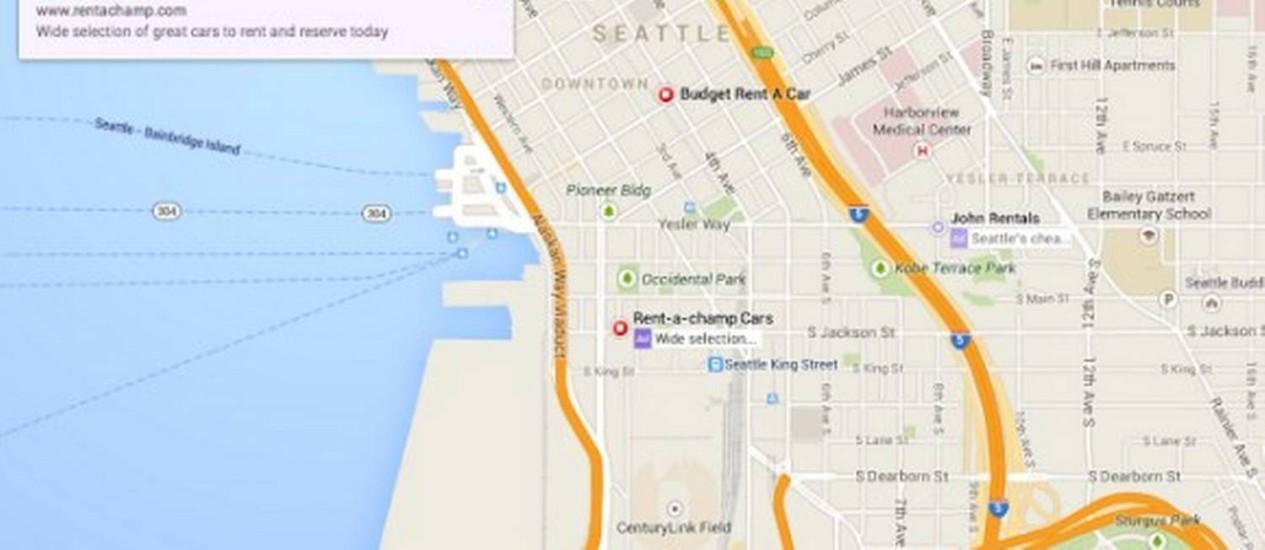Google pode mudar visual do maps jornal o globo suposto novo layout do google maps novas cores e em tela cheia foto divulgao ccuart Gallery