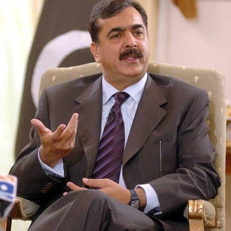 O então primeiro-ministro do Paquistão, Yusuf Raza Gilani, em visita ao Rio de Janeiro em 2011 Foto: Agência O Globo