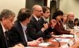 O presidente do Inep, Luiz Cláudio Costa, explica, na Câmara dos Deputados, como corretores de redação são avaliados