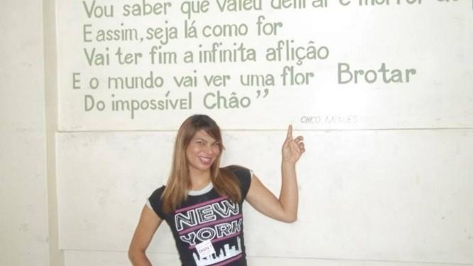 Diretora Laysa Machado na Escola Chico Mendes Foto: Reprodução da internet