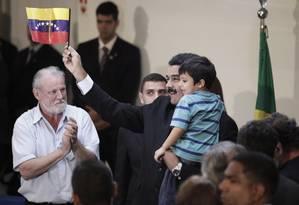 Maduro participa de palestra com estudantes e autoridades na Universidade Federal de Brasília Foto: Jorge William / Agência O Globo