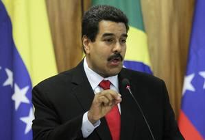 Nicolás Maduro em visita ao Brasil na semana passada Foto: UESLEI MARCELINO / REUTERS