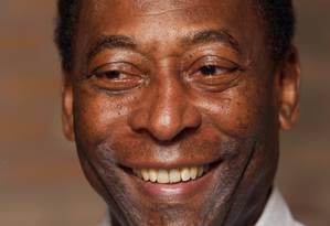 O ex-jogador de futebol Pelé vai promover projeto de cinebiografia em Cannes Foto: Fábio Guimarães / Agência O Globo