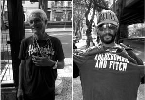 Dois moradores de rua de São Paulo recebem peças da marca Abercrombie & Fitch Foto: Tumblr Abercrombie popular / Isaias Zvatz