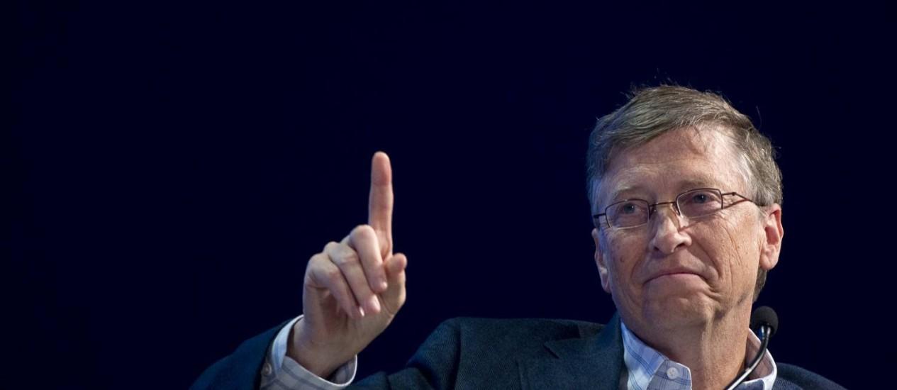 Bill Gates: De novo, o número um entre os mais ricos Foto: JOHANNES EISELE / AFP