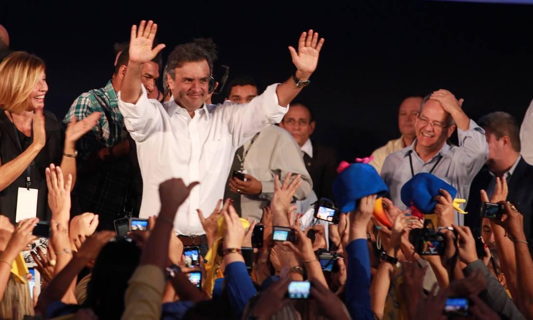 Aécio Neves na Convenção Nacional do PSDB Foto: Ailton de Freitas / Agência O Globo