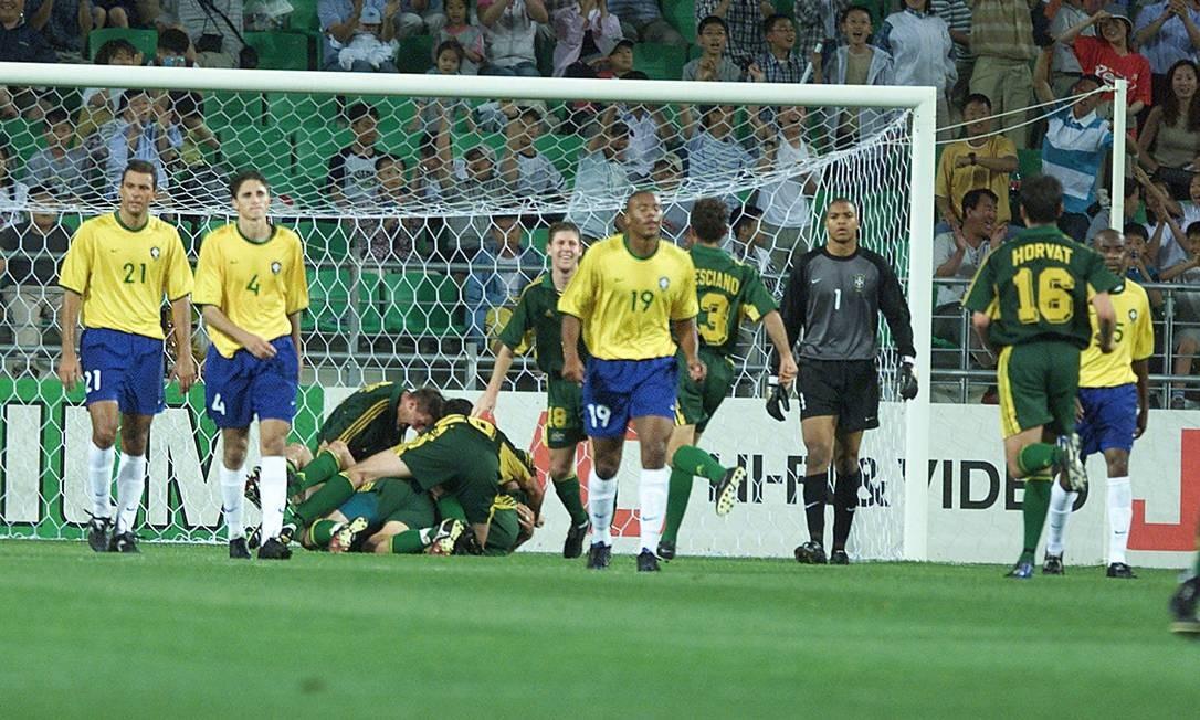 Zebra. Austrália vence Brasil na decisão do terceiro lugar: 1 a 0 Foto: Ivo Gonzalez/9-6-2001