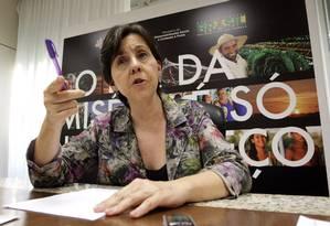 A ministra de Desenvolvimento Social e Combate à Fome, Tereza Campello, durante entrevista Foto: O Globo / André Coelho