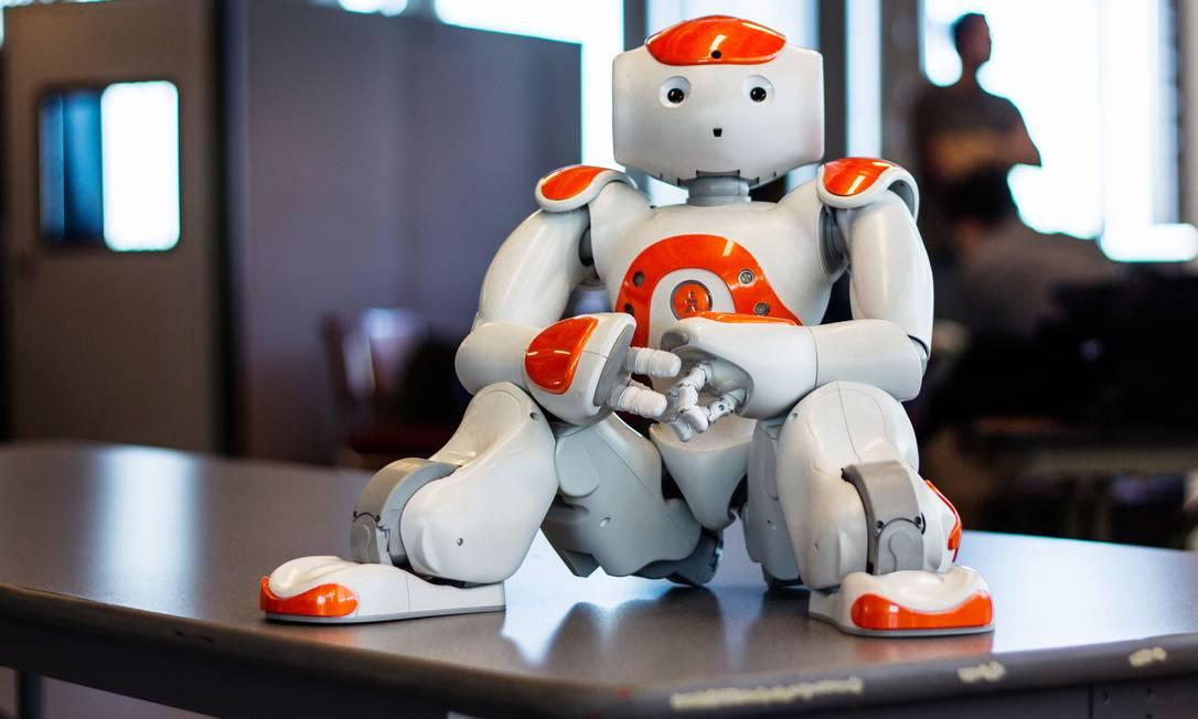Robô NAO pode ser programado por alunos e custa entre R$ 50 mil e R$ 80 mil Foto: Divulgação