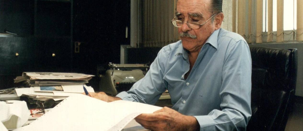 Ruy Mesquita em sua sala de trabalho em 6 de setembro de 1996 Foto: Silvio Ribeiro / Agência Estado