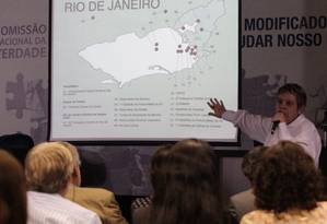 Comissão Nacional da Verdade (CNV) apresenta balanço do primeiro ano de trabalho Foto: André Coelho / Agência O Globo