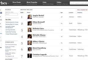 Revista Forbes divulga lista das cem mulheres mais poderosas do mundo Foto: Reprodução internet