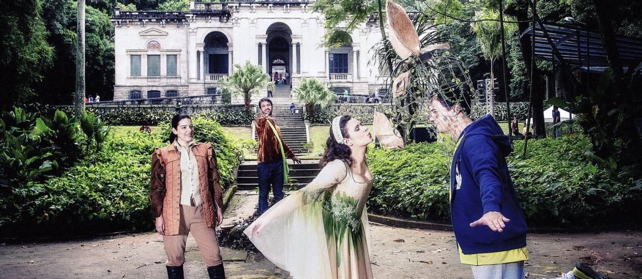 Desafio cênico. Ao ar livre, cantores da ópera competirão com a natureza do Parque Lage Foto: Leo Aversa/ Divulgação