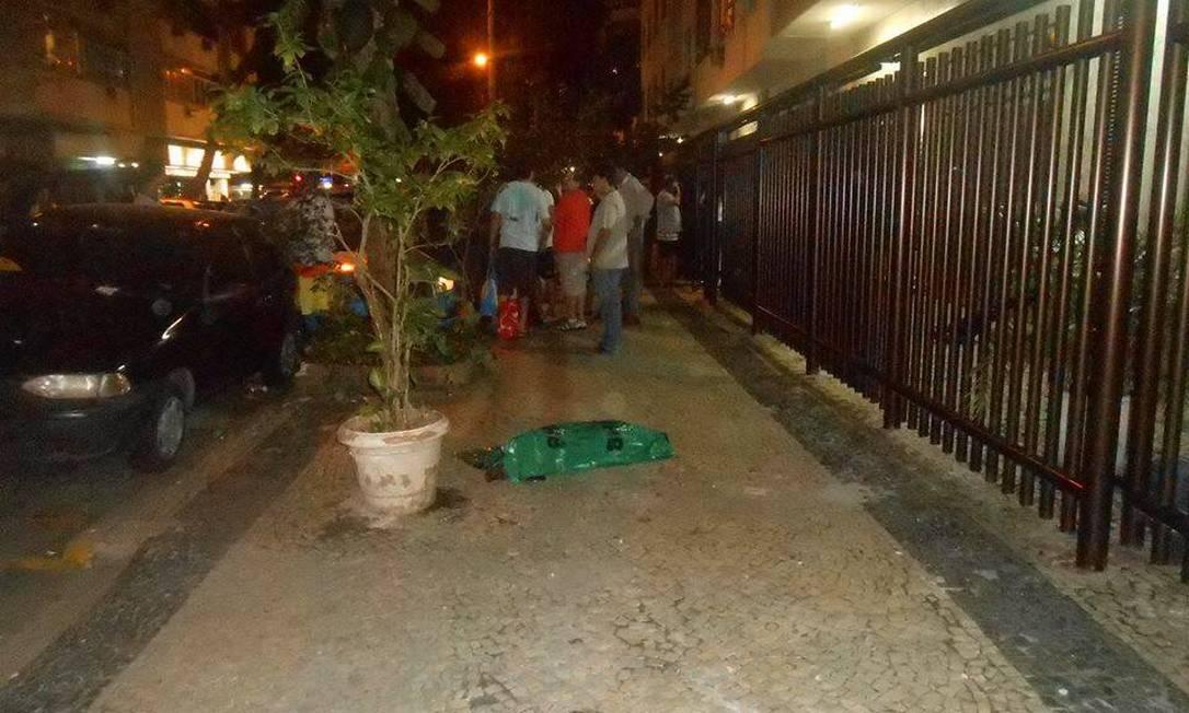 Cão morto após ser jogado de janela de prédio em Copacabana Foto: Foto de leitor