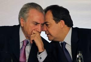 Temer ouviu Cabral e transmitiu a Dilma o que disse o governador Foto: Gabriel de Paiva / O Globo