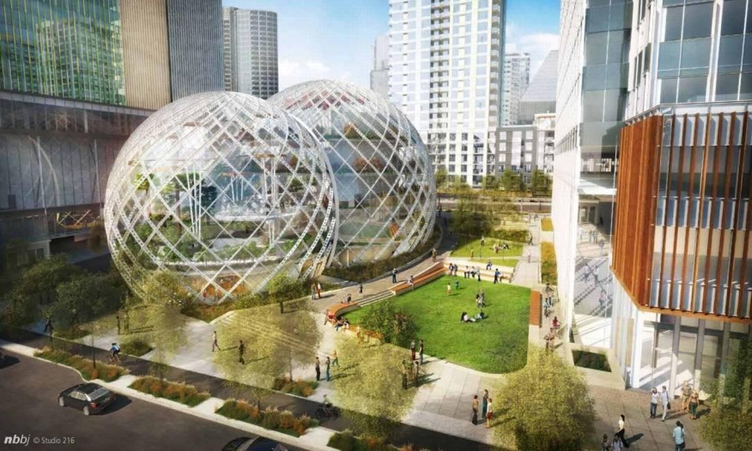 Projeção das cúpulas envidraçadas Foto: Divulgação
