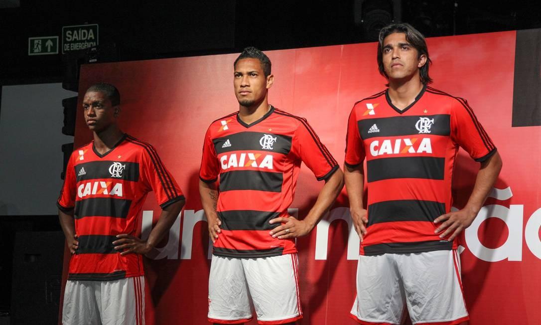 Apresentação da nova camisa do Flamengo Foto: Freelancer / Agência O Globo