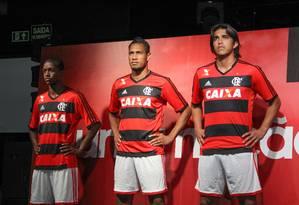 Apresentação da nova camisa do Flamengo Foto: Alexandre Cassiano / Agência O Globo