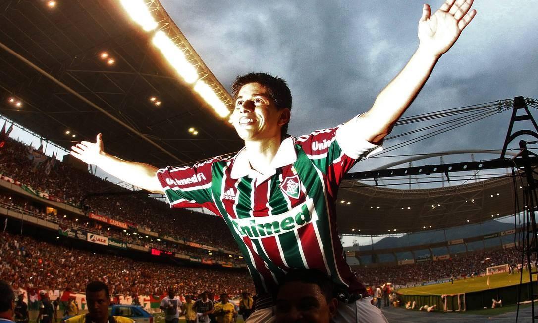 Iluminado. O meia argentino Conca jogou as 38 partidas do Fluminense na campanha do título brasileiro de 2010 Foto: / Arquivo O Globo