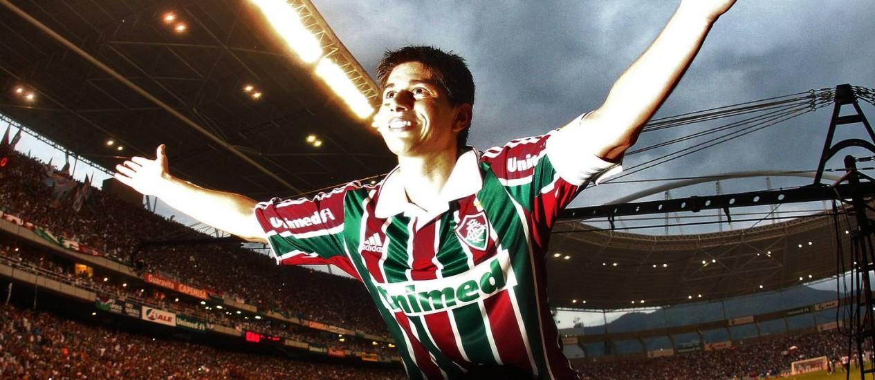 Há três anos na China, o argentino Conca tem pré-contrato assinado para retornar ao Fluminense, pelo qual foi campeão brasileiro em 2010 Foto: Arquivo O Globo
