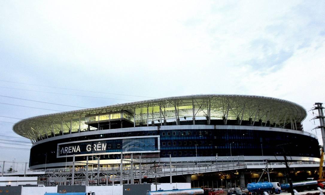 Porto Alegre - RS 04/12/2012, Novo Estádio do Gremio Futebol Porto Alegrense. Arena Grêmio. Foto: Eduardo Quadros / Fotoarena / Agência O Globo. Eduardo Quadros / Agência O Globo