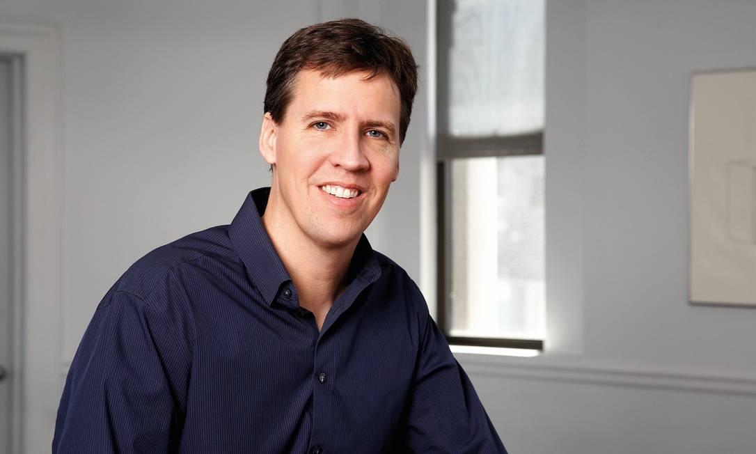 """Autor americano Jeff Kinney, criador da série """"Diários de um banana"""": 75 milhões de livros vendidos no mundo Foto: Divulgação"""