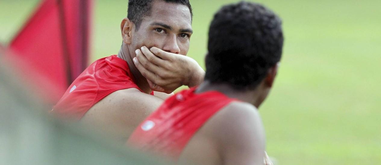 Hernane: esperança de gols do Flamengo no Brasileiro Foto: Cezar Loureiro / Agência O Globo