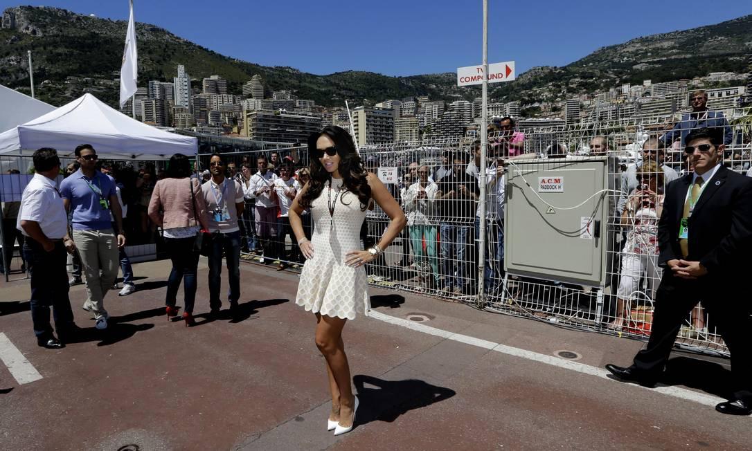 A modelo Tamara Ecclestone e filha do chefão da F1 prestigia o evento. Luca Bruno / AP