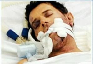 Luiz Antônio de Jesus, que chegou a ser internado em CTI: ele não resistiu aos ferimentos Foto: Reprodução / TV Globo