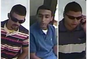 Imagens da câmera de segurança flagram três homens acusados de assaltar joalheria em shopping de Botafogo Foto: Polícia Civil / Divulgação