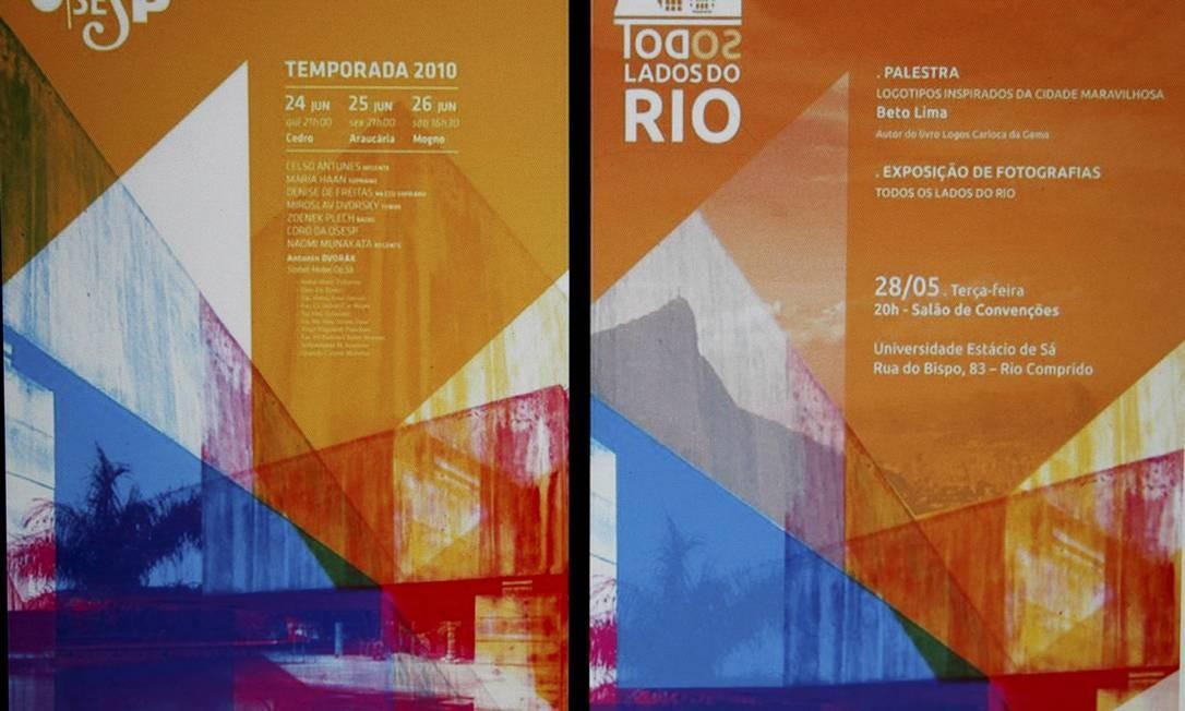 Estácio disse que o cartaz foi feito por um aluno do curso de Publicidade e Propaganda Foto: Marcelo Piu / Reprodução