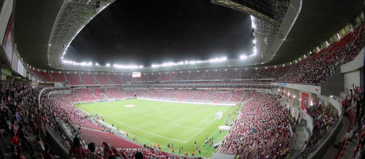 A nova Arena Pernambuco, que sera palco de Náutico x Vasco Foto: Hans von Manteuffel / O Globo