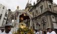 A procissão de Corpus Christi sai da Igreja da Candelária e vai até a Catedral Metropolitana do Rio