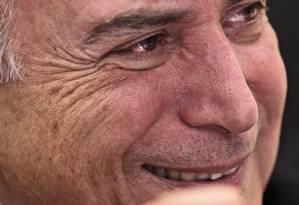 """Temer: """"O governo aprovou tudo o que queria, isso significa que a articulação foi boa Foto: O GLOBO / André Coelho"""