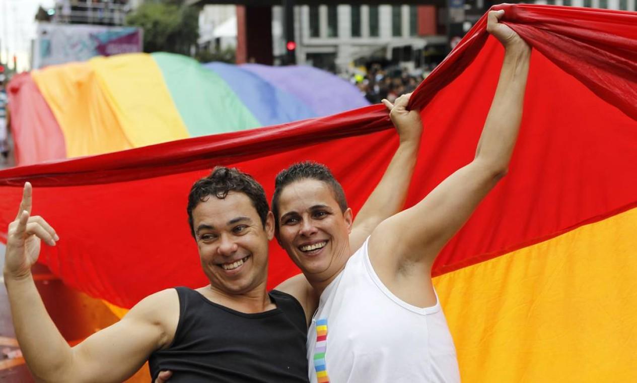 Gente de todo o país participa do maior evento da diversidade do Brasil Foto: Michel Filho / Agência O Globo