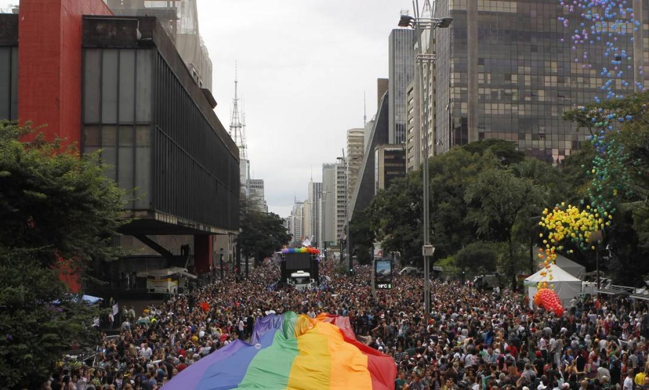Previsão era reunir mais de 3 milhões de pessoas na marcha da diversidade Foto: Michel Filho / Agência O Globo