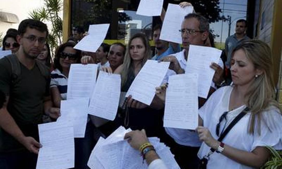 Mudança de local do concurso da Anvisa provoca confusão Foto: Gustavo Stephan / O Globo