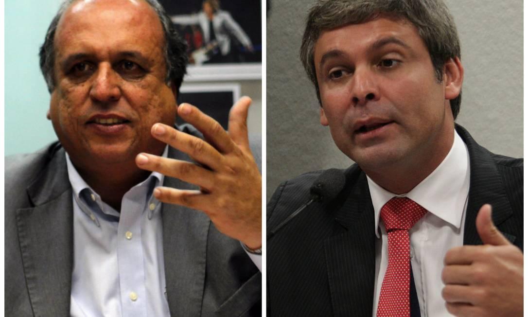 Luiz Fernando Pezão e Lindbergh Farias, pré-candidatos ao governo do Rio Foto: Montagem