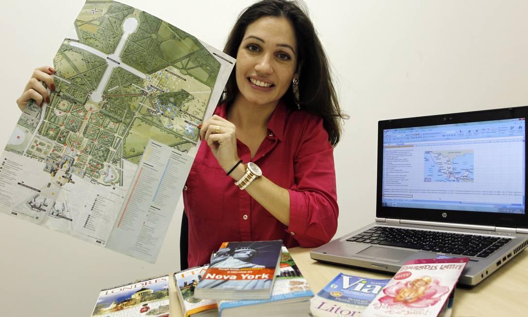 A engenheira de alimentos Verena Fiori Ferreira planeja as viagens nos mínimos detalhes Foto: Eliária Andrade / O Globo