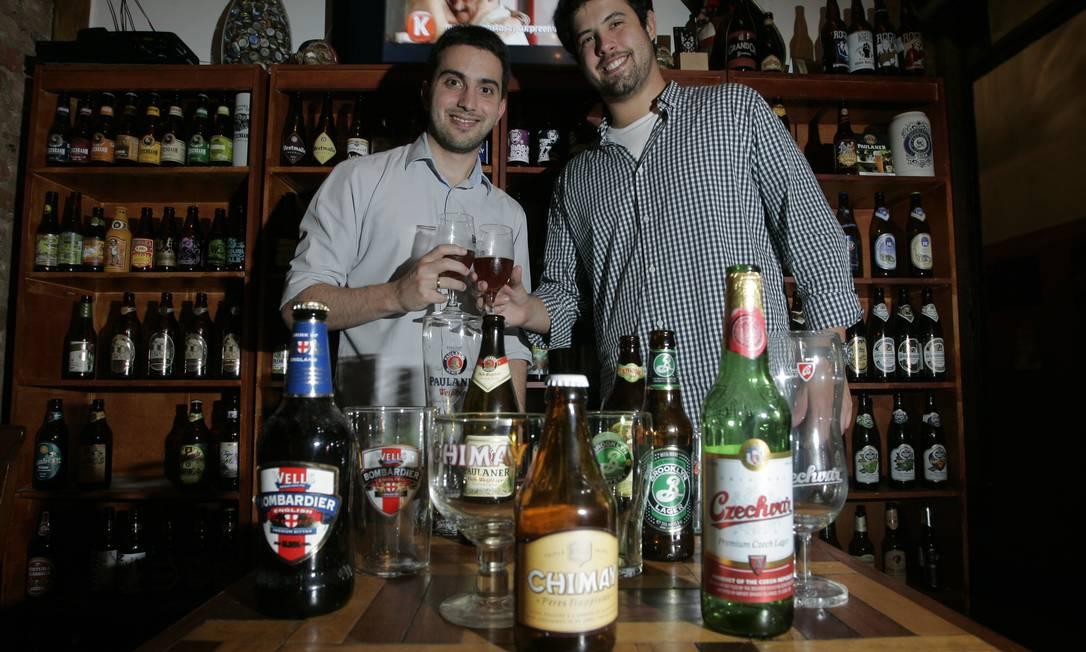 Cervejeiros. Rafael Carvalhaes e Eduardo Paulsen Foto: Freelancer / Pedro Teixeira