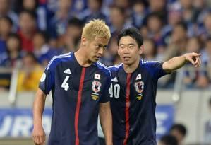 Honda e Kagawa estão entre os confirmados na Copa das Confederações Foto: Toshifumi Kitamura / AFP