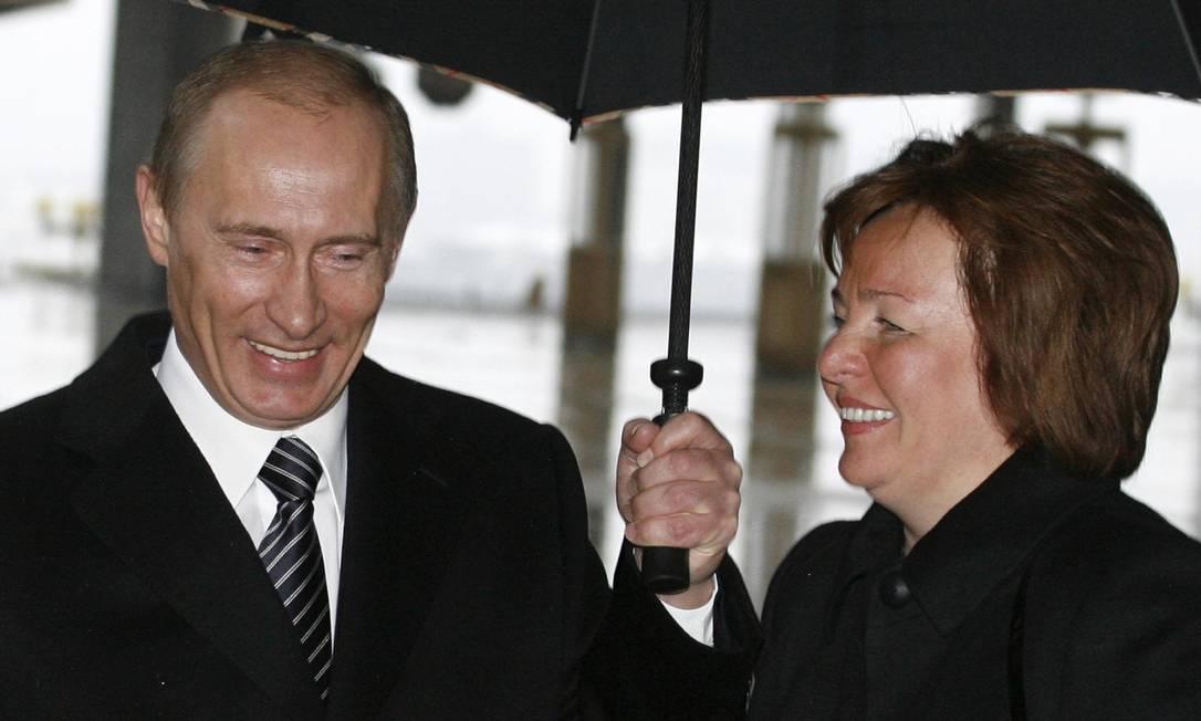 Vladimir Putin e sua esposa Lyudmila nas eleições de 2008 Foto: POOL / REUTERS