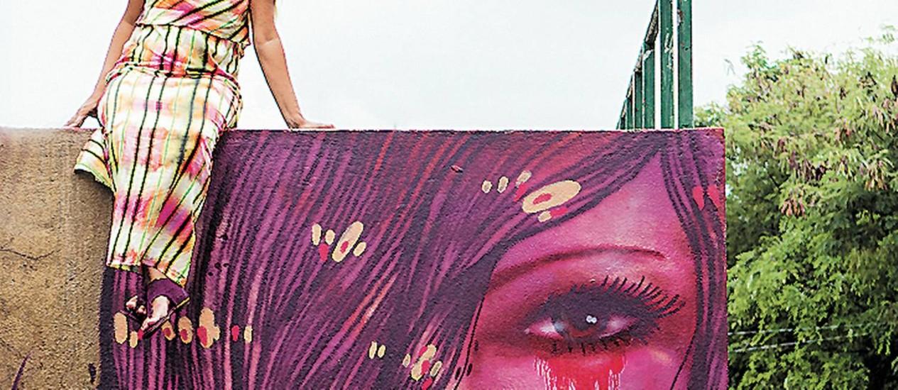 Panmela já grafitou em vários países e ganhou prêmios. Foto: Guilherme Leporace/04-01-2013