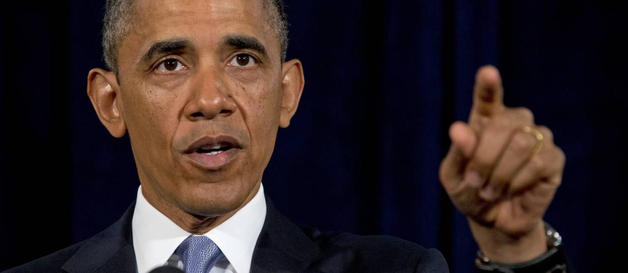 Em discurso, Obama defende programas de vigilância do governo Foto: Evan Vucci / AP