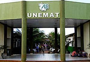 Fachada da Universidade Estadual do Mato Grosso Foto: Divulgação