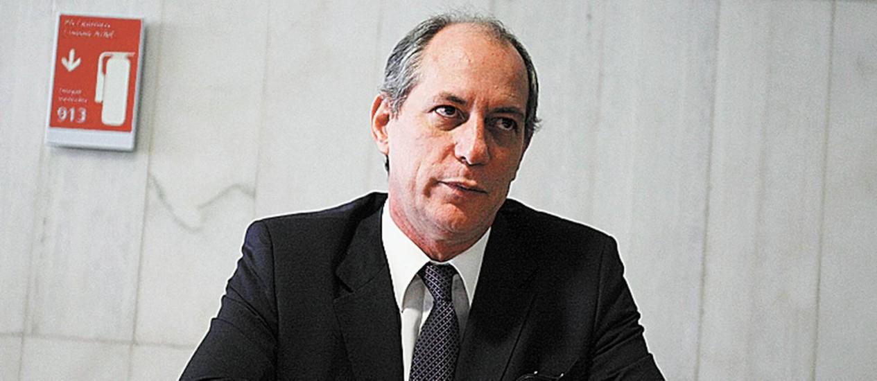 Ex-ministro Ciro Gomes Foto: Arquivo O Globo
