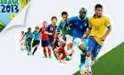 Confira um info com as seleções que disputam a Copa das Confederações Foto: O Globo / Criação