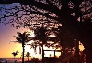 A poesia de um fim de tarde na Praia do Pepê Foto: Divulgação/Ana Leticia Cohen