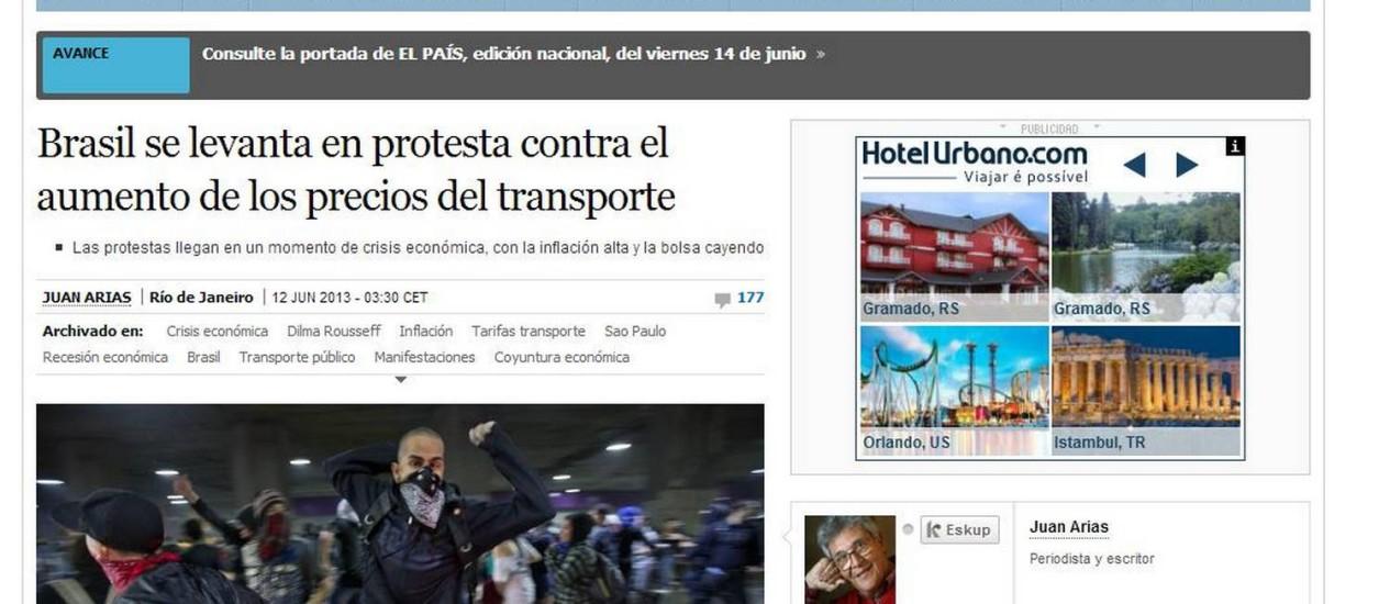 Reprodução do 'El País'